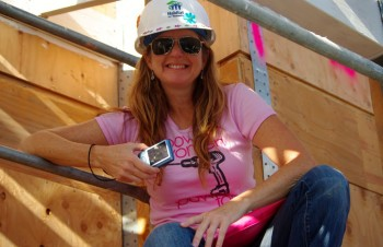 Angela with Habitat for Humanity GLA